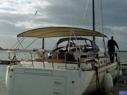 Southerly 57 pushpit mounted telescopic Bimini_1