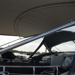 Southerly 57 pushpit mounted telescopic Bimini_8
