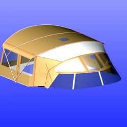Westerly 49 Bimini shown with Bimini Conversion_6