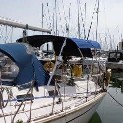 Westerly Oceanquest aft cockpit Bimini_1