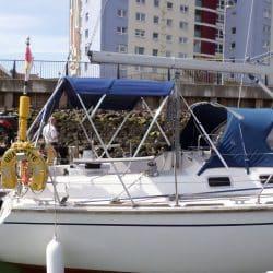 Westerly Oceanquest aft cockpit Bimini_3