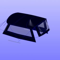 Fairline Phantom 48, Flybridge Bimini Side Shade Panels with windows_10