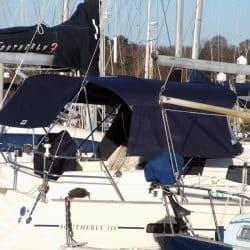 Southerly 110 Bimini with Optional Side Shade Panels_2