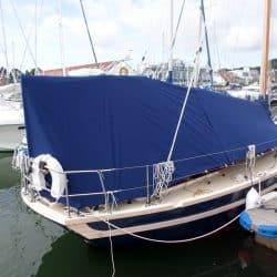 Cornish Crabber 30 Pilot Cutter, overboom awning_1