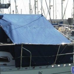 Dufour 36 Boom Tent with roll up dodger panels_1