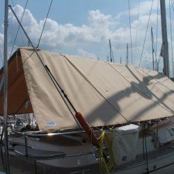 Najad 380 Boom Tent with roll up doors, custom designed_3