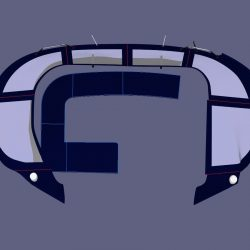 Lagoon 380, Bimini Conversion, Design 2, ref Gira _6