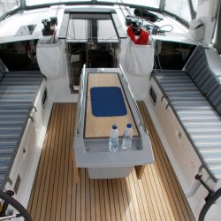 Beneteau Oceanis 41.1, Cockpit Seat and Back Cushions_10