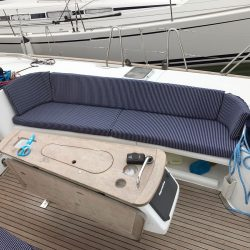 Beneteau Oceanis 523 Cockpit Seat and Back cushions_2