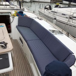 Beneteau Oceanis 523 Cockpit Seat and Back cushions_3