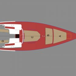 Hanse 495 Cockpit, Helm and Exterior Cushions_2