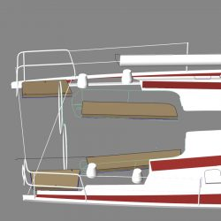 Hanse 495 Cockpit, Helm and Exterior Cushions_4