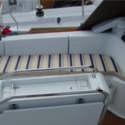 Jeanneau Sun Odyssey 379 Cockpit Cushions in optional extra striped fabric_3