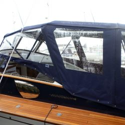 Fairey Huntsman 31 Sprayhood and Bimini converting to a full Enclosure_6