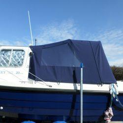 Orkney Pilothouse 20 Cockpit enclosure fitted with optional internal roll up window blinds_7