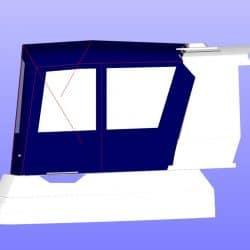 Orkney Pilothouse 27 Cockpit Enclosure, optional layout with extra zips_3