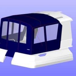 Orkney Pilothouse 27 Cockpit Enclosure, optional layout with extra zips_4