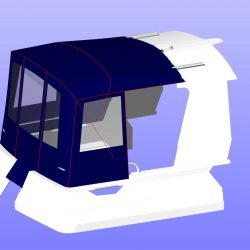 Orkney Pilothouse 27 Cockpit Enclosure, optional layout with extra zips_5