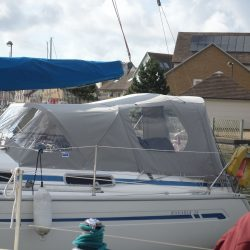 Bavaria 34 (year 2000) Cockpit enclosure fitted to Tecsew Sprayhood_1