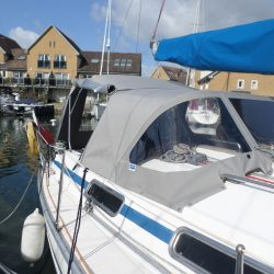 Bavaria 34 (year 2000) Cockpit enclosure fitted to Tecsew Sprayhood_5