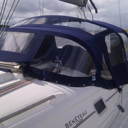 Beneteau Oceanis 331 Cockpit Enclosure shown with optional extra roof window_2