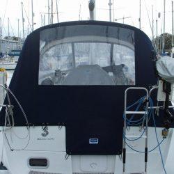 Beneteau Oceanis 34 Cockpit Enclosure fitted to factory sprayhood_1