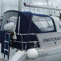 Beneteau Oceanis 34 Cockpit Enclosure fitted to factory sprayhood_3