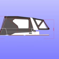 Beneteau Oceanis 35 Cockpit enclosure, approximate height from cockpit floor