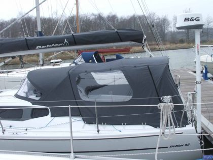 Dehler 32 Cockpit Enclosure fitted to factory supplied Sprayhood_1