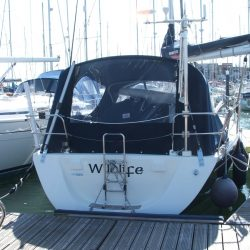 Dehler 36sq Cockpit Enclosure fitted to exisiting Sprayhood_4