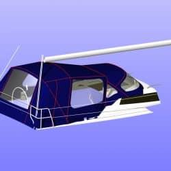 Dehler 38 Cockpit Enclosure alternative window design_12