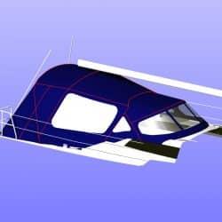 Dehler 38 Cockpit Enclosure alternative window design_15