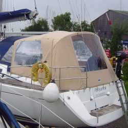 Dufour 425 Cockpit Enclosure fitted to factory supplied Sprayhood_1