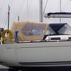 Dufour 425 Cockpit Enclosure fitted to factory supplied Sprayhood_2