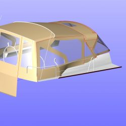 Dufour 445 Cockpit Enclosure, fits either Tecsew or factory supplied Sprayhood, ref 4904_8
