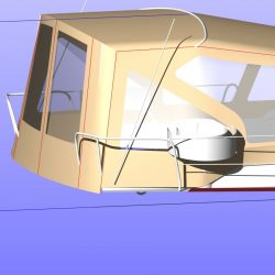 Dufour 450 Cockpit Enclosure fitted to factory supplied Sprayhood_6