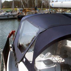 Hanse 400 Cockpit Enclosure fitted to Covercraft Sprayhood_2