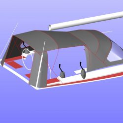 Hanse 455 Cockpit Enclosure fitted to factory fit Sprayhood_21