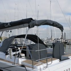 Hanse 455 Cockpit Enclosure fitted to factory fit Sprayhood_10