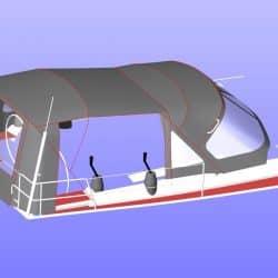 Hanse 455 Cockpit Enclosure fitted to Tecsew Sprayhood_13