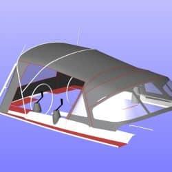 Hanse 455 Cockpit Enclosure fitted to Tecsew Sprayhood_14