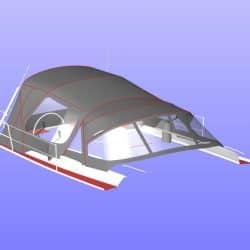 Hanse 455 Cockpit Enclosure fitted to Tecsew Sprayhood_16