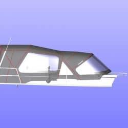 Hanse 455 Cockpit Enclosure fitted to Tecsew Sprayhood, ref 6249_6