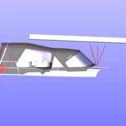 Hanse 455 Cockpit Enclosure fitted to Tecsew Sprayhood, ref 6249_7
