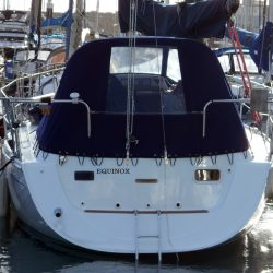 Hunter Channel 31 Cockpit Enclosure fitted to one off Sprayhood_2