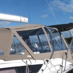 Jeanneau 53 Cockpit Enclosure fitted to Dolphin Sails Sprayhood_3