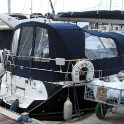 Jeanneau Sun Odyssey 40.3 Cockpit Enclosure fitted to Tecsew Sprayhood_2