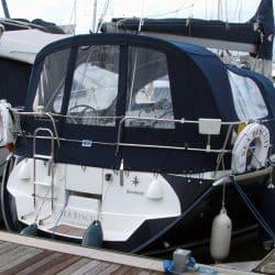 Jeanneau Sun Odyssey 40.3 Cockpit Enclosure fitted to Tecsew Sprayhood_3