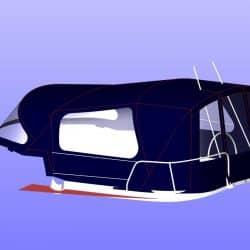 Jeanneau Sun Odyssey 40.3 Cockpit Enclosure fitted to Tecsew Sprayhood_6