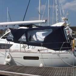 Jeanneau Sun Odyssey 42ds, 2010 onwards, Bespoke Cockpit Enclosure fitted to Tecsew standard Sprayhood_1